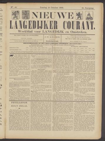 Nieuwe Langedijker Courant 1893-10-15