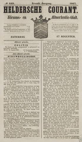 Heldersche Courant 1867-08-17