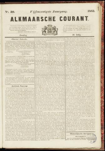 Alkmaarsche Courant 1863-07-26