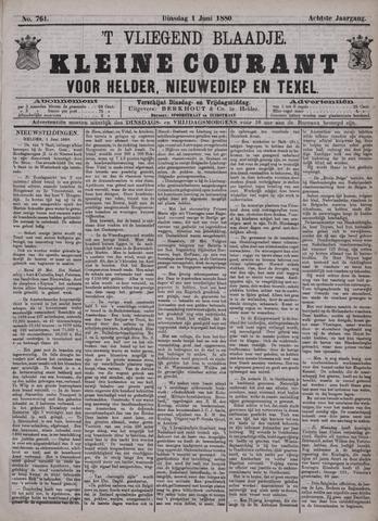 Vliegend blaadje : nieuws- en advertentiebode voor Den Helder 1880-06-01