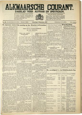 Alkmaarsche Courant 1937-09-04