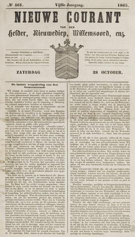Nieuwe Courant van Den Helder 1865-10-28