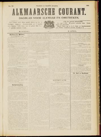 Alkmaarsche Courant 1910-04-18