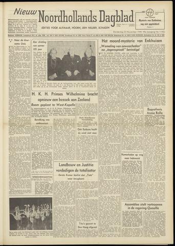 Nieuw Noordhollandsch Dagblad : voor Alkmaar en omgeving 1948-11-25