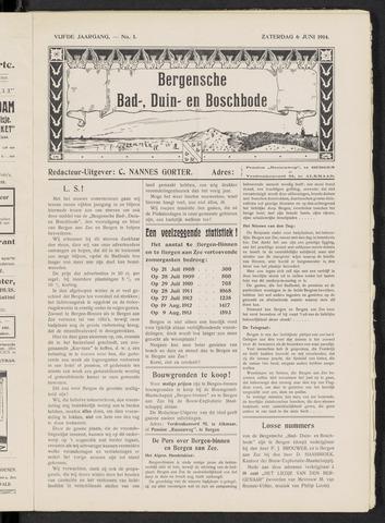 Bergensche bad-, duin- en boschbode 1914