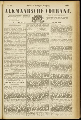 Alkmaarsche Courant 1885-04-29