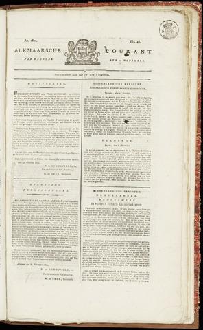 Alkmaarsche Courant 1822-11-18