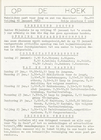 Op De Hoek, weekblad voor Akersloot 1963-01-18