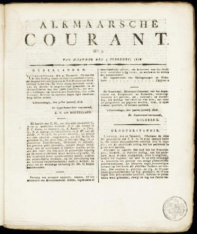 Alkmaarsche Courant 1816-02-05