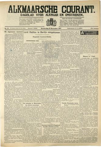 Alkmaarsche Courant 1937-11-18