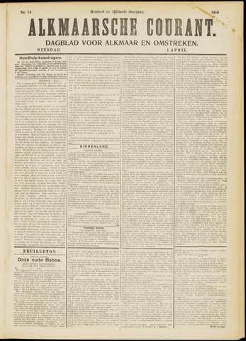 Alkmaarsche Courant 1913-04-01