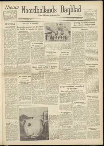 Nieuw Noordhollandsch Dagblad : voor Alkmaar en omgeving 1948-09-14