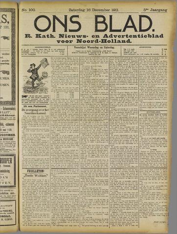 Ons Blad : katholiek nieuwsblad voor N-H 1911-12-16