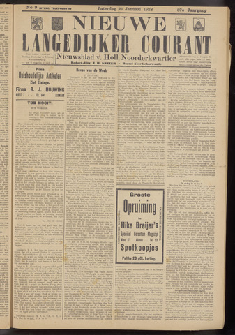Nieuwe Langedijker Courant 1928-01-21