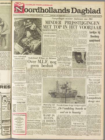 Noordhollands Dagblad : dagblad voor Alkmaar en omgeving 1964-12-09