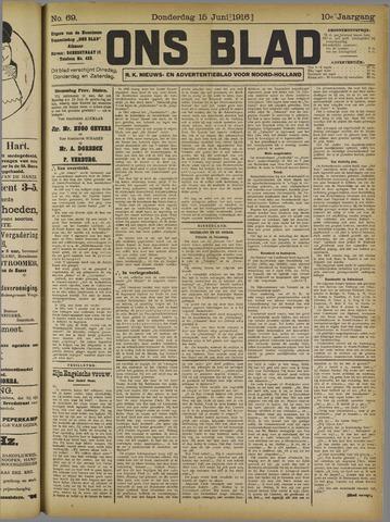 Ons Blad : katholiek nieuwsblad voor N-H 1916-06-15