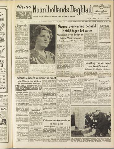 Nieuw Noordhollandsch Dagblad : voor Alkmaar en omgeving 1951-04-27