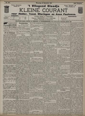 Vliegend blaadje : nieuws- en advertentiebode voor Den Helder 1908-09-30