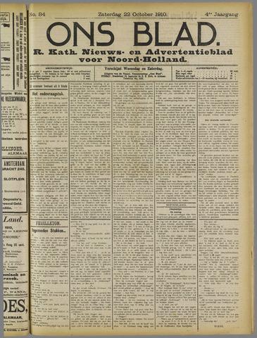 Ons Blad : katholiek nieuwsblad voor N-H 1910-10-22