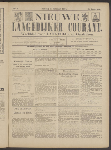 Nieuwe Langedijker Courant 1894-02-11