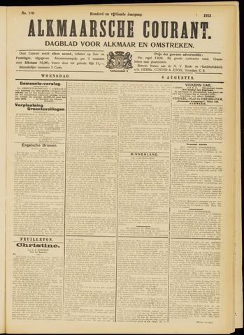Alkmaarsche Courant 1913-08-06