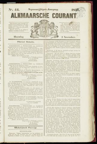 Alkmaarsche Courant 1857-11-02