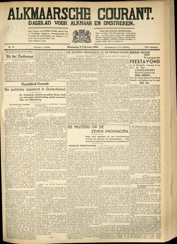Alkmaarsche Courant 1933-02-08