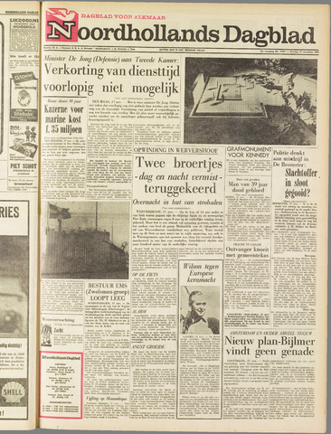 Noordhollands Dagblad : dagblad voor Alkmaar en omgeving 1964-11-17