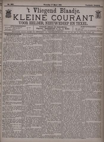 Vliegend blaadje : nieuws- en advertentiebode voor Den Helder 1886-03-17