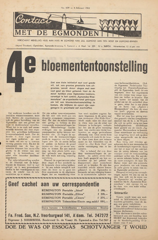 Contact met de Egmonden 1964-02-06