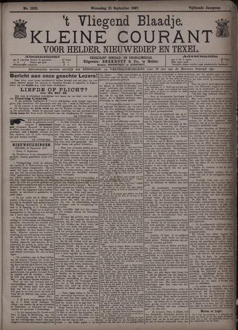 Vliegend blaadje : nieuws- en advertentiebode voor Den Helder 1887-09-21