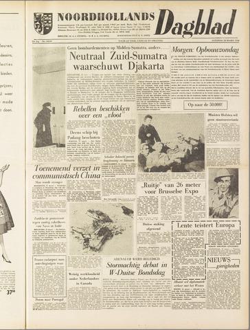 Noordhollands Dagblad : dagblad voor Alkmaar en omgeving 1958-03-22