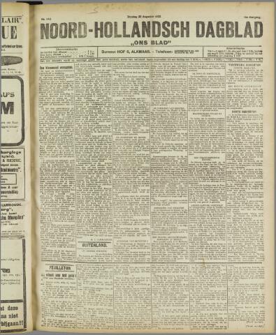 Ons Blad : katholiek nieuwsblad voor N-H 1922-08-29