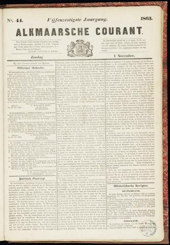 Alkmaarsche Courant 1863-11-01