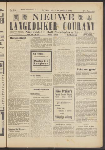 Nieuwe Langedijker Courant 1932-10-15