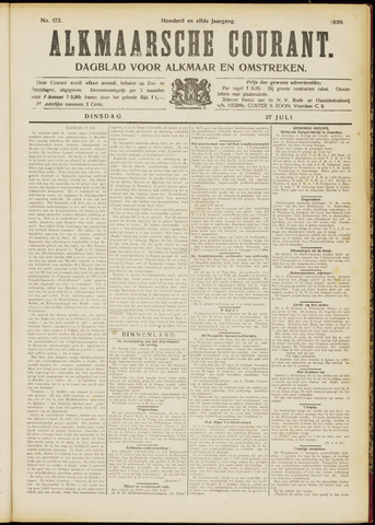 Alkmaarsche Courant 1909-07-27