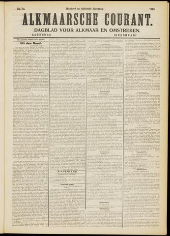 Alkmaarsche Courant 1913-02-22