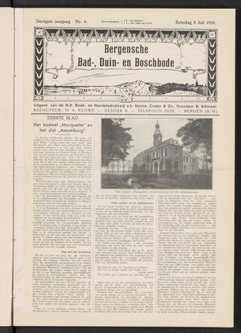 Bergensche bad-, duin- en boschbode 1939-07-08