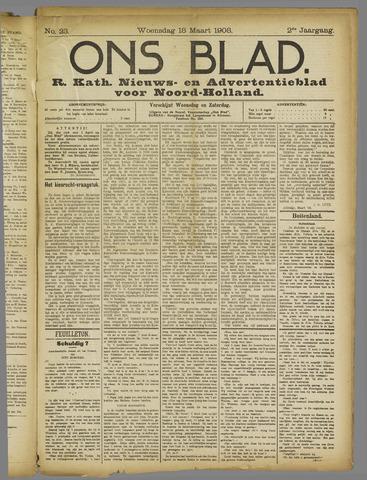 Ons Blad : katholiek nieuwsblad voor N-H 1908-03-18