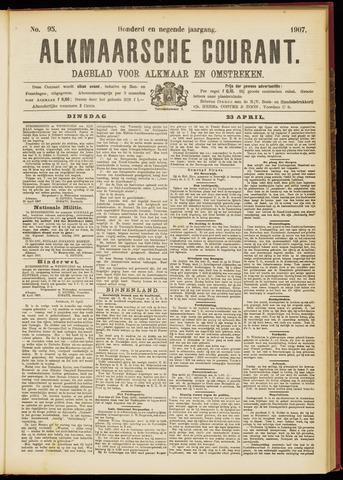 Alkmaarsche Courant 1907-04-23