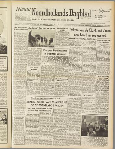 Nieuw Noordhollandsch Dagblad : voor Alkmaar en omgeving 1950-02-02