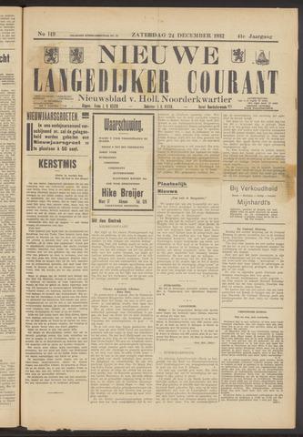Nieuwe Langedijker Courant 1932-12-24