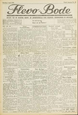 Flevo-bode: nieuwsblad voor Wieringen-Wieringermeer 1949-04-02