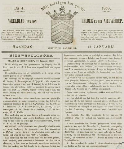 Weekblad van Den Helder en het Nieuwediep 1858-01-18