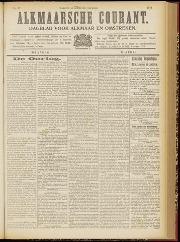 Alkmaarsche Courant 1916-04-24