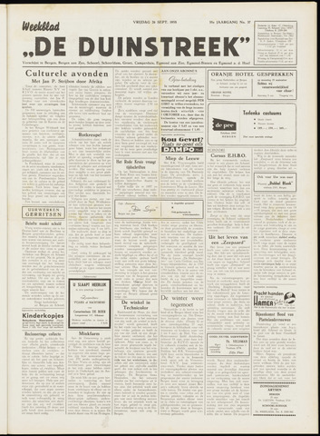 De Duinstreek 1958-09-26
