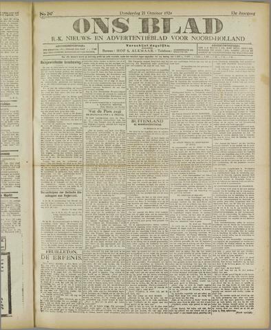 Ons Blad : katholiek nieuwsblad voor N-H 1920-10-21