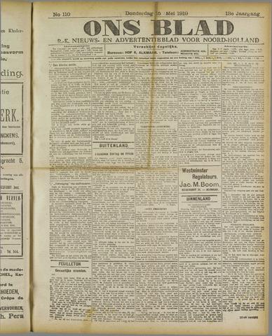 Ons Blad : katholiek nieuwsblad voor N-H 1919-05-15