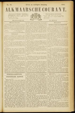 Alkmaarsche Courant 1885-07-15
