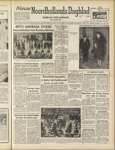 Nieuw Noordhollandsch Dagblad : voor Alkmaar en omgeving 1952-02-16